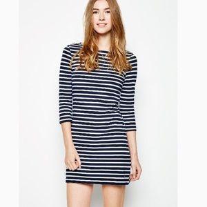 Jack wills boat cut stripe dress